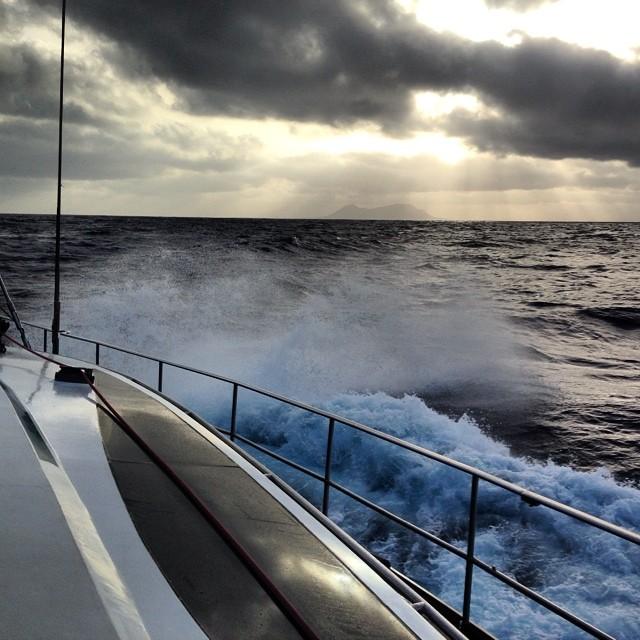 Sailing past Isla De Alegranza