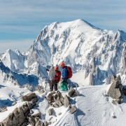 Mike Horn and Fred Roux on the summit of Mount Dolent