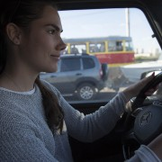 Annika driving the G-Class Across Russia