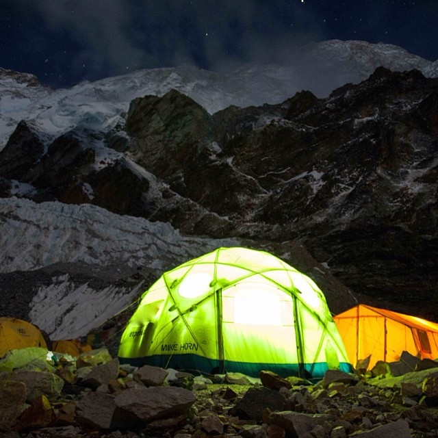 Mike Horn's tent on Makalu