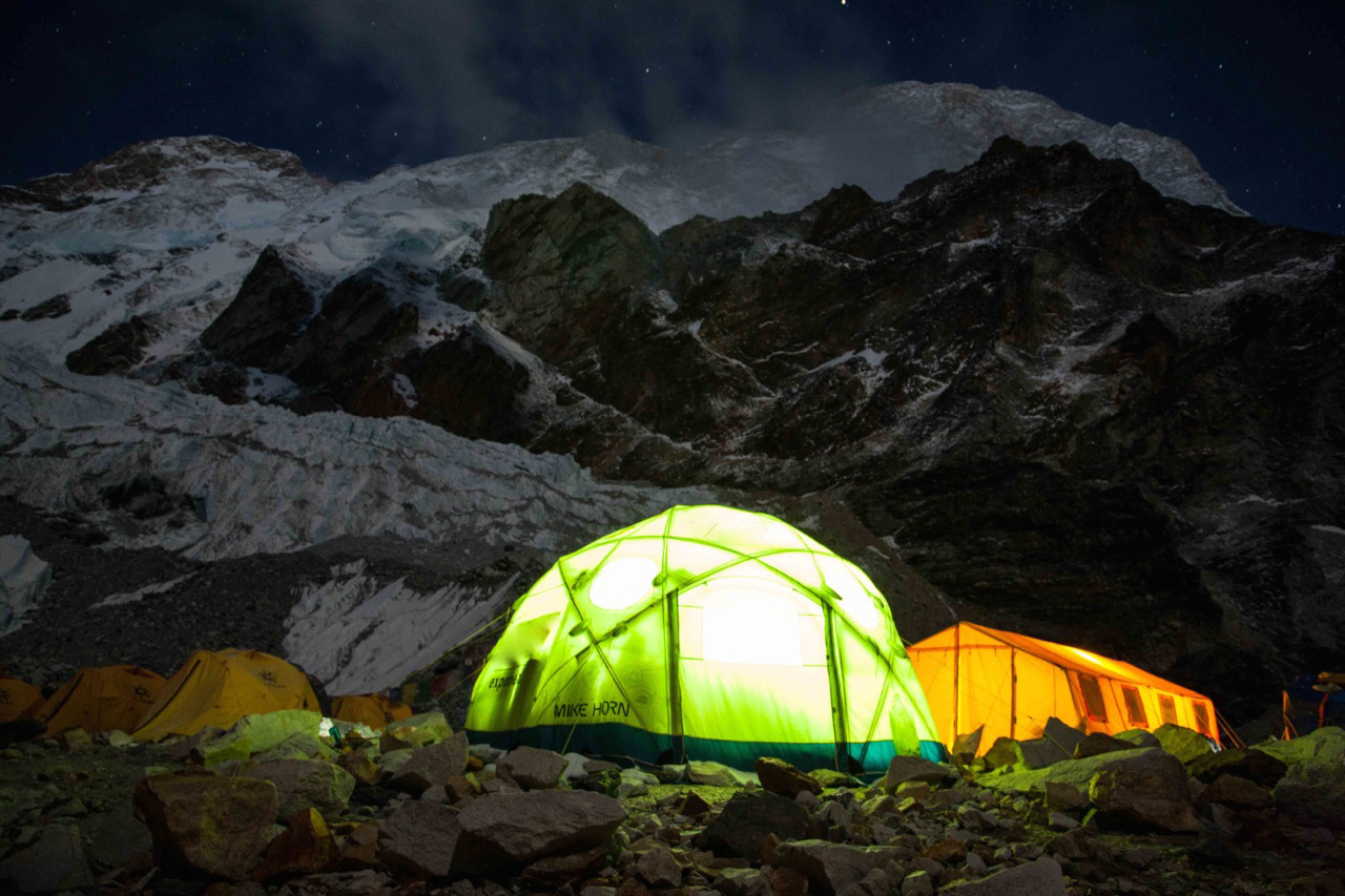 Green tent at Makalu base camp