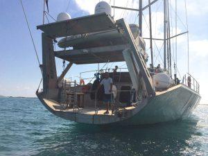 Jacek at the stern