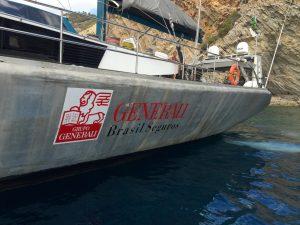 Pangaea's hull with Generali logo