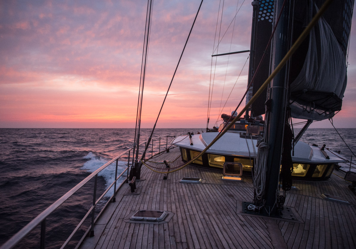 Pole2Pole - Sailing on Pangaea in Atlantic Ocean.